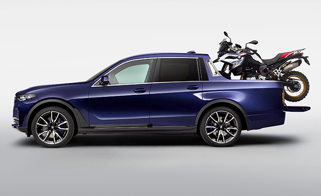 BMW's X7 Pickup Truck Concept is the Motorcycle Carrier Nobody Asked For