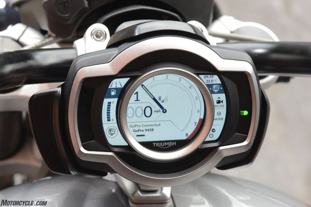 2020 Triumph Rocket 3 TFT display