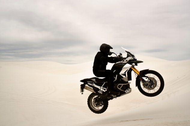 2020 Triumph Tiger 900 jumping