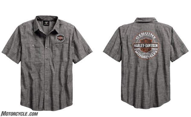 Harley-Davidson Men's Genuine Oil Can Shirt, Gray