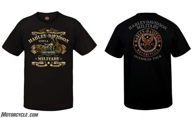 Harley-Davidson Military – Men's Graphic Short Sleeve Crew Neck T-Shirt – Overseas Tour | War Bike