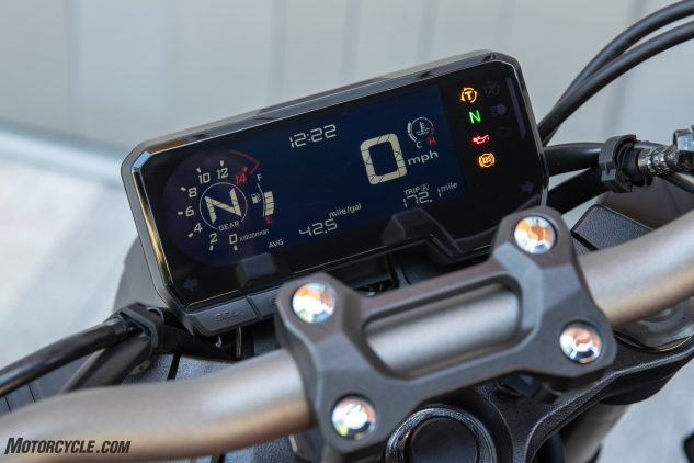 Honda CB650R display
