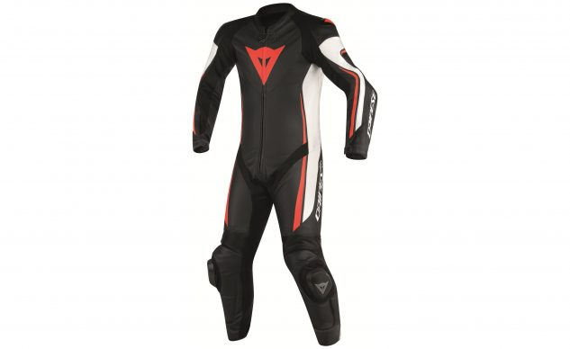 dainese_assen_perforated_race_suit_black_white_fluo_red