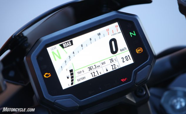 2020 Kawasaki Z H2 TFT display