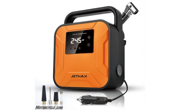 JETHAX Air Compressor Tire Inflator, 12V Portable Air Pump for Car Tires, Tire Pump with LED Light, Long Cable and Auto Shut Off Compatible with Car-2