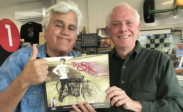 The Speed Kings author, Don Emde, with Jay Leno