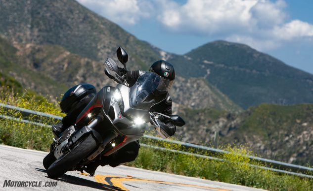 Ducati Multistrada 1260 S Grand Tour action mountains