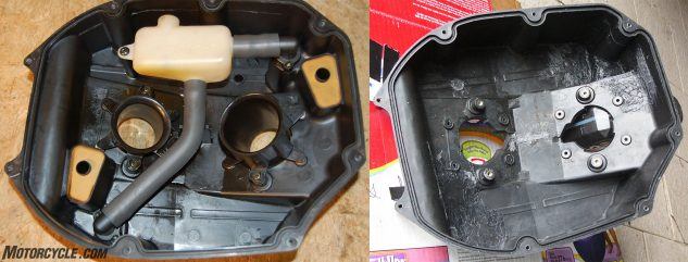 OEM and Modded airbox