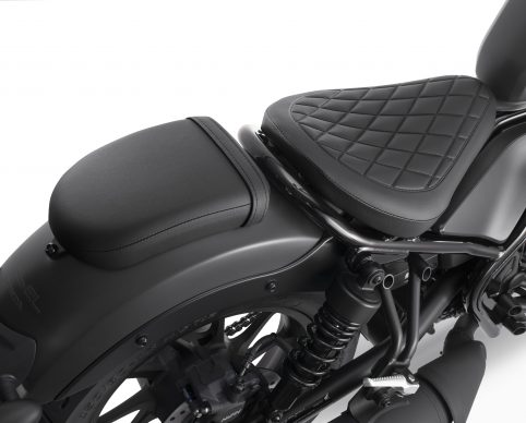 20 Honda Rebel_passenger seat kit black 1