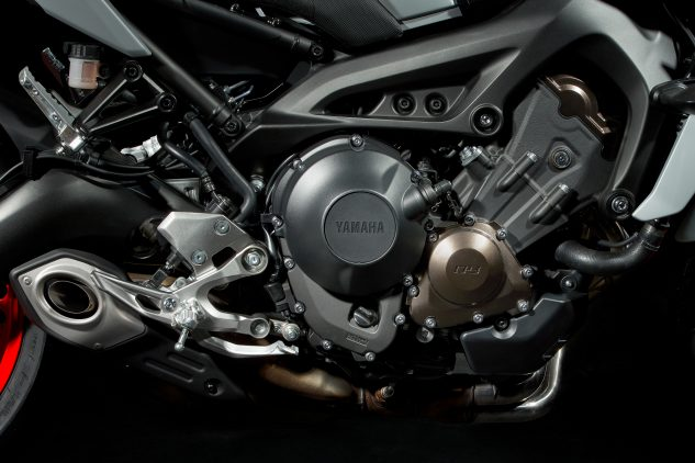 2020 Yamaha MT-09's 847cc three-cylinder engine