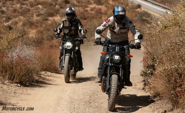 2020 Indian FTR Rally vs. Triumph Scrambler 1200 XC