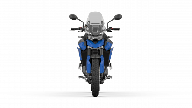 Tiger 850 Sport – Graphite and Caspian Blue – Front