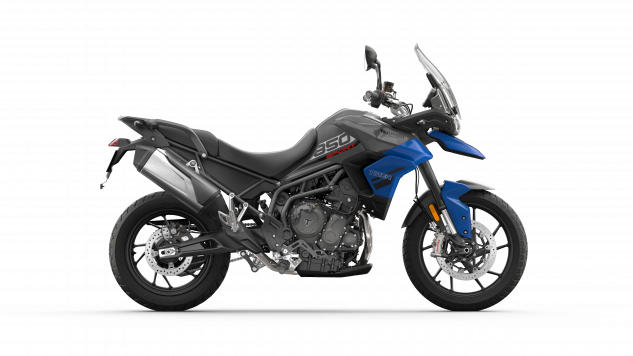 Tiger 850 Sport – Graphite and Caspian Blue – RHS