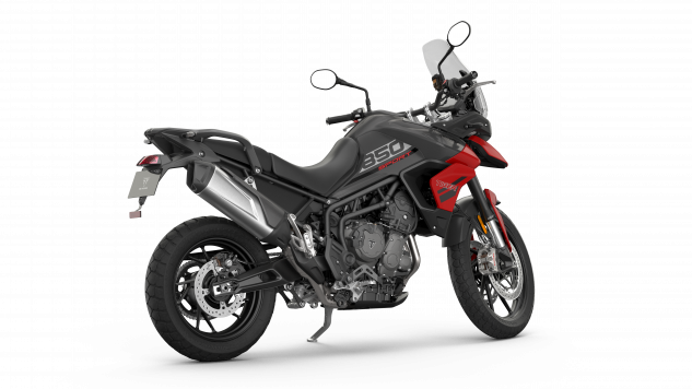 Tiger 850 Sport – Graphite and Diablo Red – Angle Rear