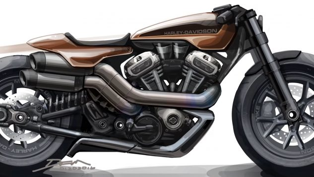 Future Harley-Davidson model sketch