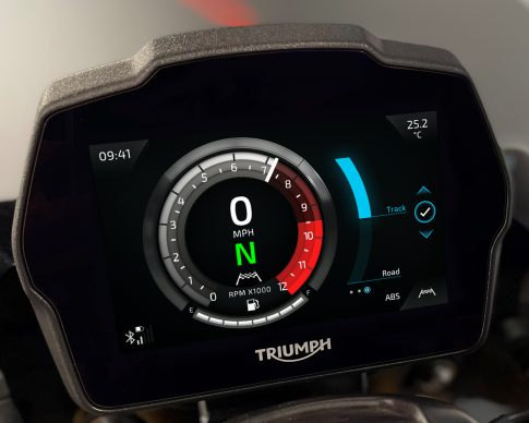 Speed Triple 1200 RS Instruments – Cobalt theme – ABS Setting
