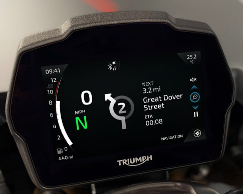 Speed Triple 1200 RS Instruments – Cobalt theme – Navigation (expanded)