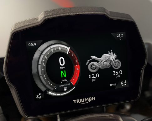 Speed Triple 1200 RS Instruments – Cobalt theme – TPMS