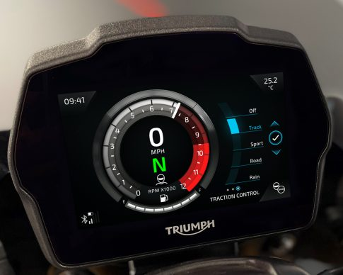 Speed Triple 1200 RS Instruments – Cobalt theme – Traction Control Setting