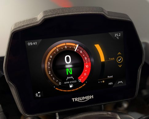 Speed Triple 1200 RS Instruments – Furnace theme – ABS Setting