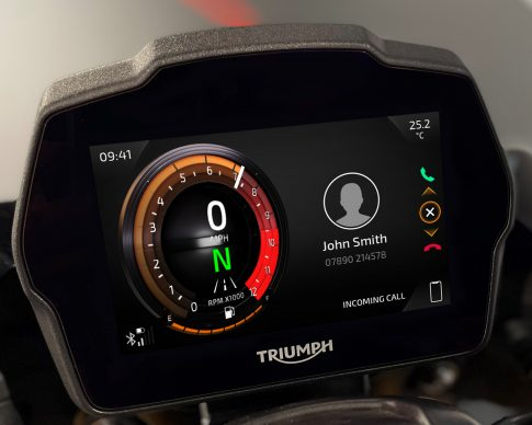 Speed Triple 1200 RS Instruments – Furnace theme – Incoming Call