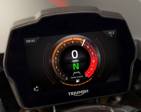Speed Triple 1200 RS Instruments – Furnace theme – Main Screen