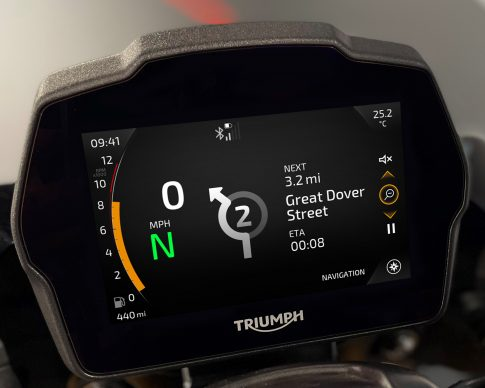 Speed Triple 1200 RS Instruments – Furnace theme – Navigation (expanded)
