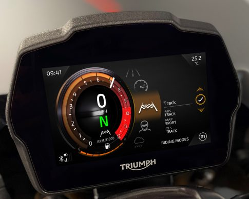 Speed Triple 1200 RS Instruments – Furnace theme – Riding Modes