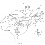 """Subaru's proposed """"land-and-air vehicle"""" in ground traveling mode."""