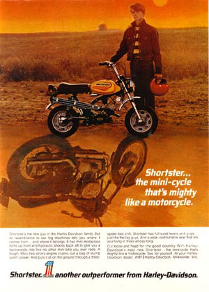 "Though this ad is far older than the one Fred refers to above, you can still see that H-D was already working on the ""tough guy"" image."