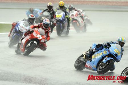 Wet track conditions at Sepang made things interesting.