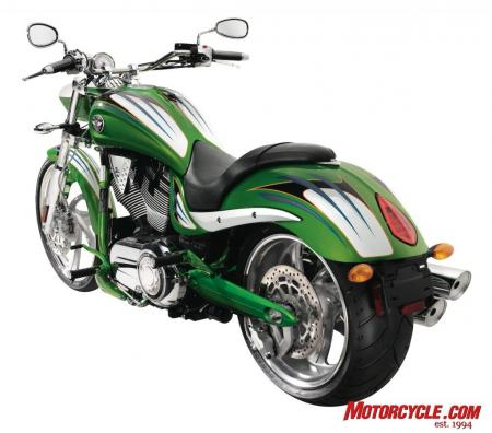 2009 Victory Motorcycles Jackpot Lime 09 Rear3Q