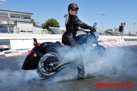 2009 Victory Motorcycles Kingpin 8Ball burnout