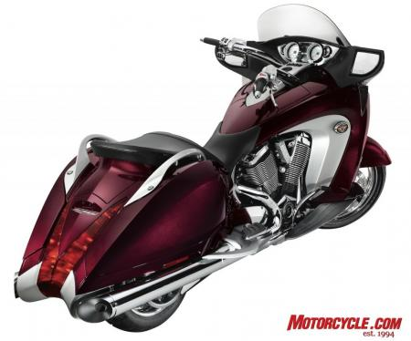 2009 Victory Motorcycles VVisionStreet Cherry RearBeauty