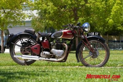 Bud Ekins' 1938 Triumph Speed Twin.