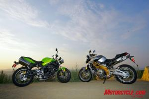 Sky�s the limit for fun when aboard either the Street Triple or Shiver.