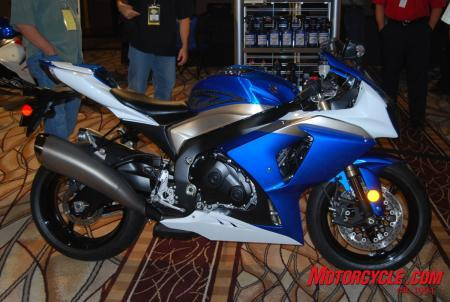 The heavily revised 2009 Suzuki GSX-R1000.