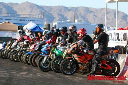 Riders lining up for the main event.