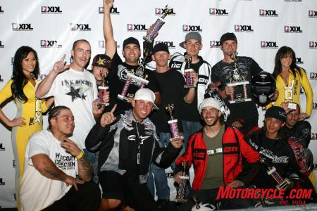 Top row from left to right: Levi, Dan Farris, Alex Flores, Rick Hart, Ernie Vigil, Bill Dixon. Bottom row from left to right: Aaron Bullo, Dan Jackson, Nick Brocha, Shin Kinoshita, Lin Eshalom.