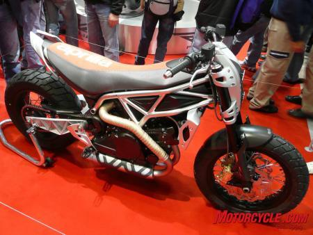 Aprilia showed us something a little different from their usual sporty style.