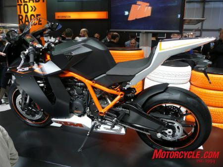 KTM's RC8 gets a higher-spec R version.
