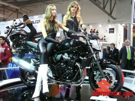 The Bandit 650 got some cosmetic changes...we're not sure if the girls did.