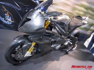The BMW S1000RR might look a bit generic at this stage, but the production version is sure to look more distinct.