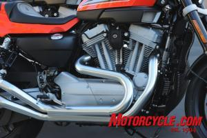 A breathed-on Sportster motor gives the XR1200 extra grunt over the run-of-the-mill 1200cc Harley.