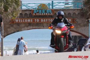 The DN-01 caused quite a stir wherever we went around Daytona�s Bike Week.