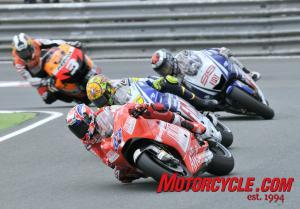Casey Stoner's health may once again have been a factor as the Ducati rider faded as the race progressed.