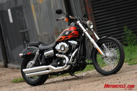 The 2010 Dyna Wide Glide strikes a pose.