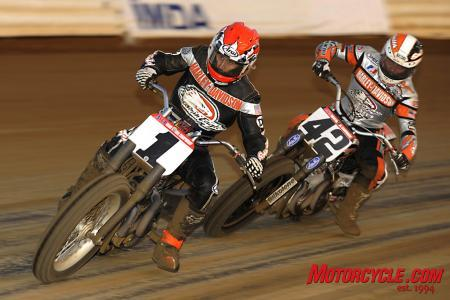 Kenny Coolbeth, Jr., won the main event ahead of fellow Screamin' Eagles Harley-Davidson rider Bryan Smith.