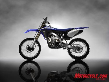 The 2010 YZ450F motor looks forward by turning around backward.