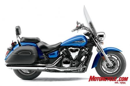 Ergonomic and cosmetic tweaks for the 2010 V-Star 1300 Tourer. Available early 2010 at an $11,790 MSRP.